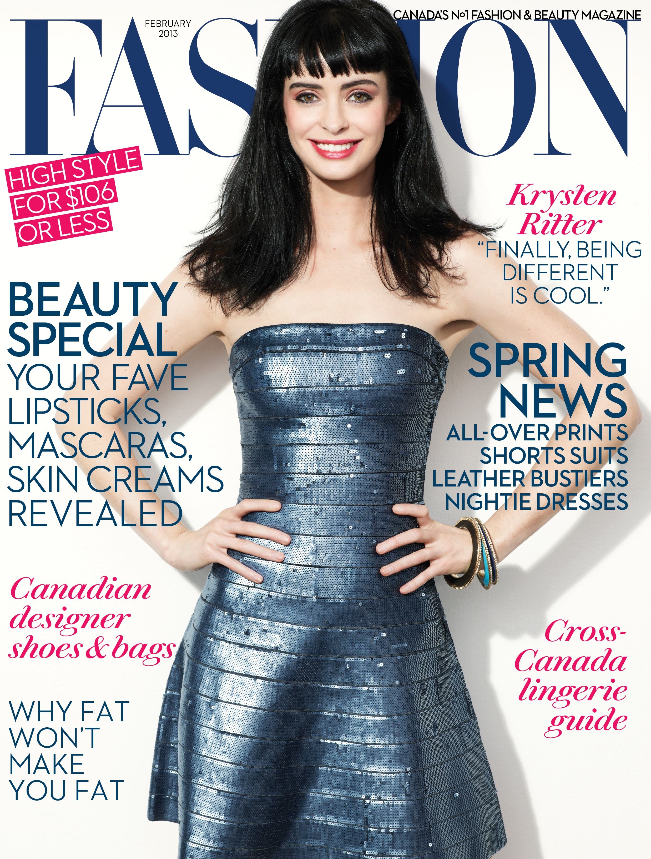 Fashion Magazines Look To Familiar Faces For Cover Models: Krysten Ritter Cover