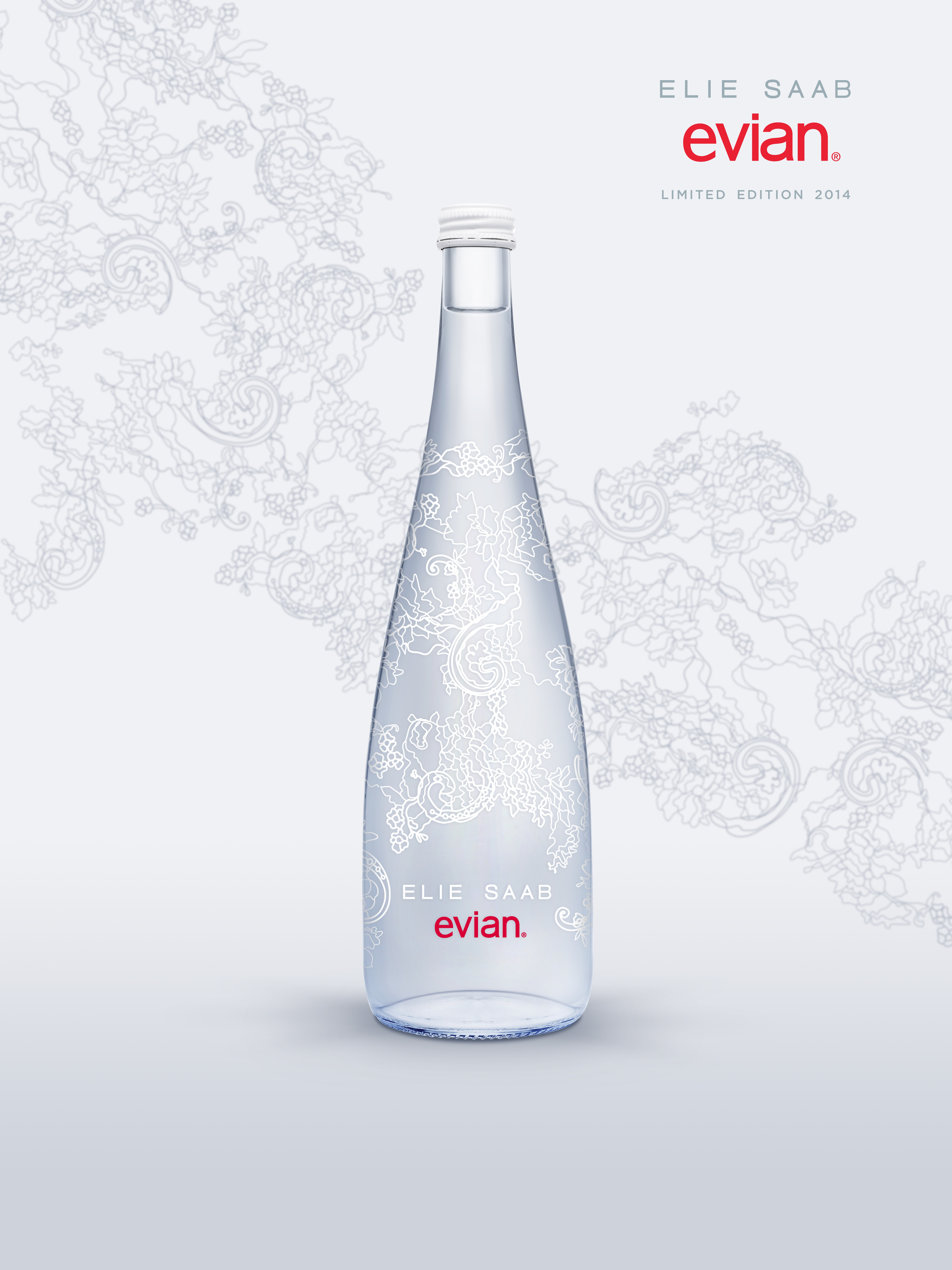 986b3268c7 evian Natural Spring Water has announced its collaboration with fashion  designer, ELIE SAAB, to create a limited edition glass bottle that is a  joint ...
