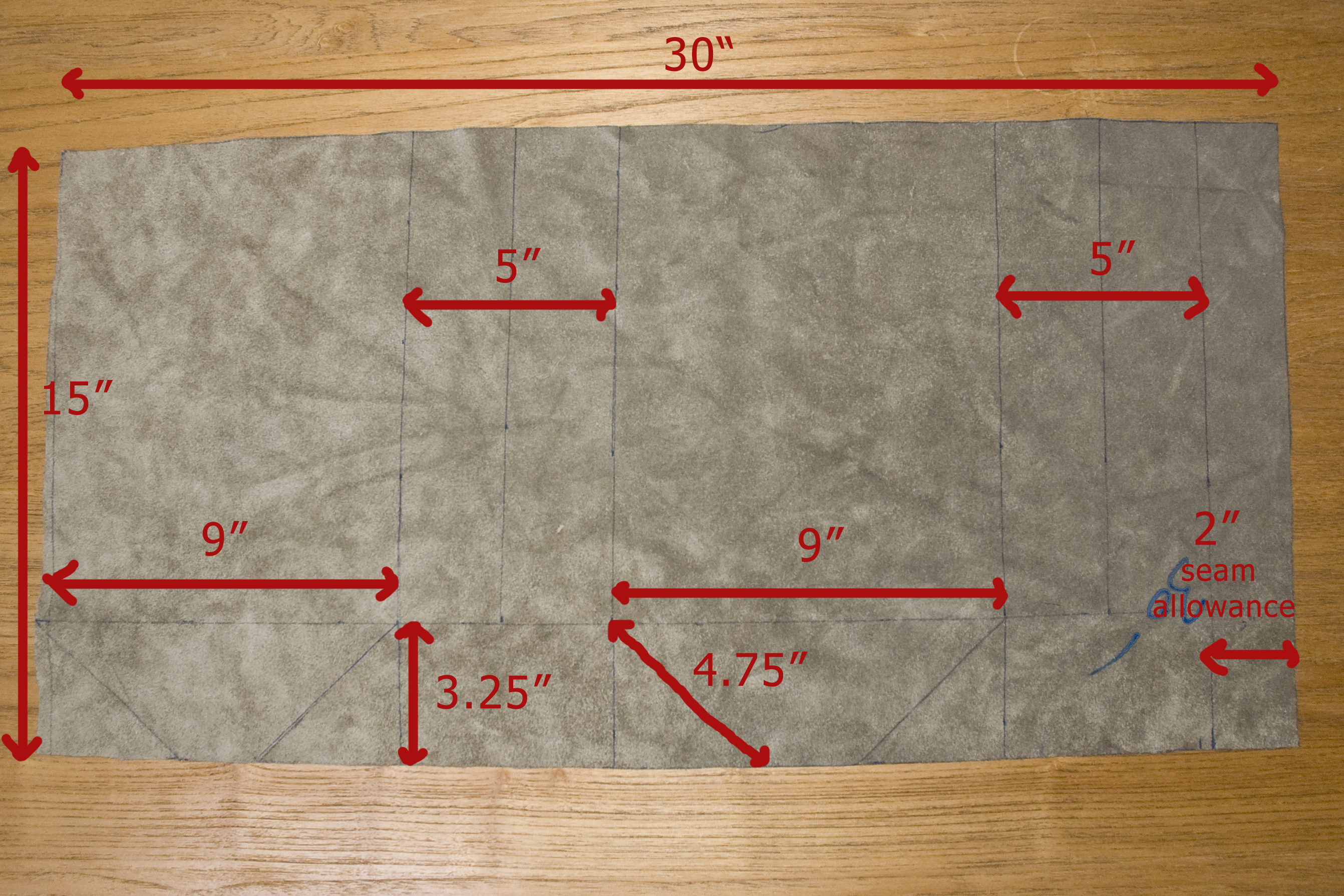 First Start Off By Marking Your Template As Seen In The Image Above Or You Can Use A Deconstructed Paper Lunch Bag Guide