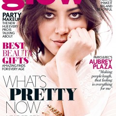 Aubrey Plaza on the Cover of GLOW Winter 2014 Edition