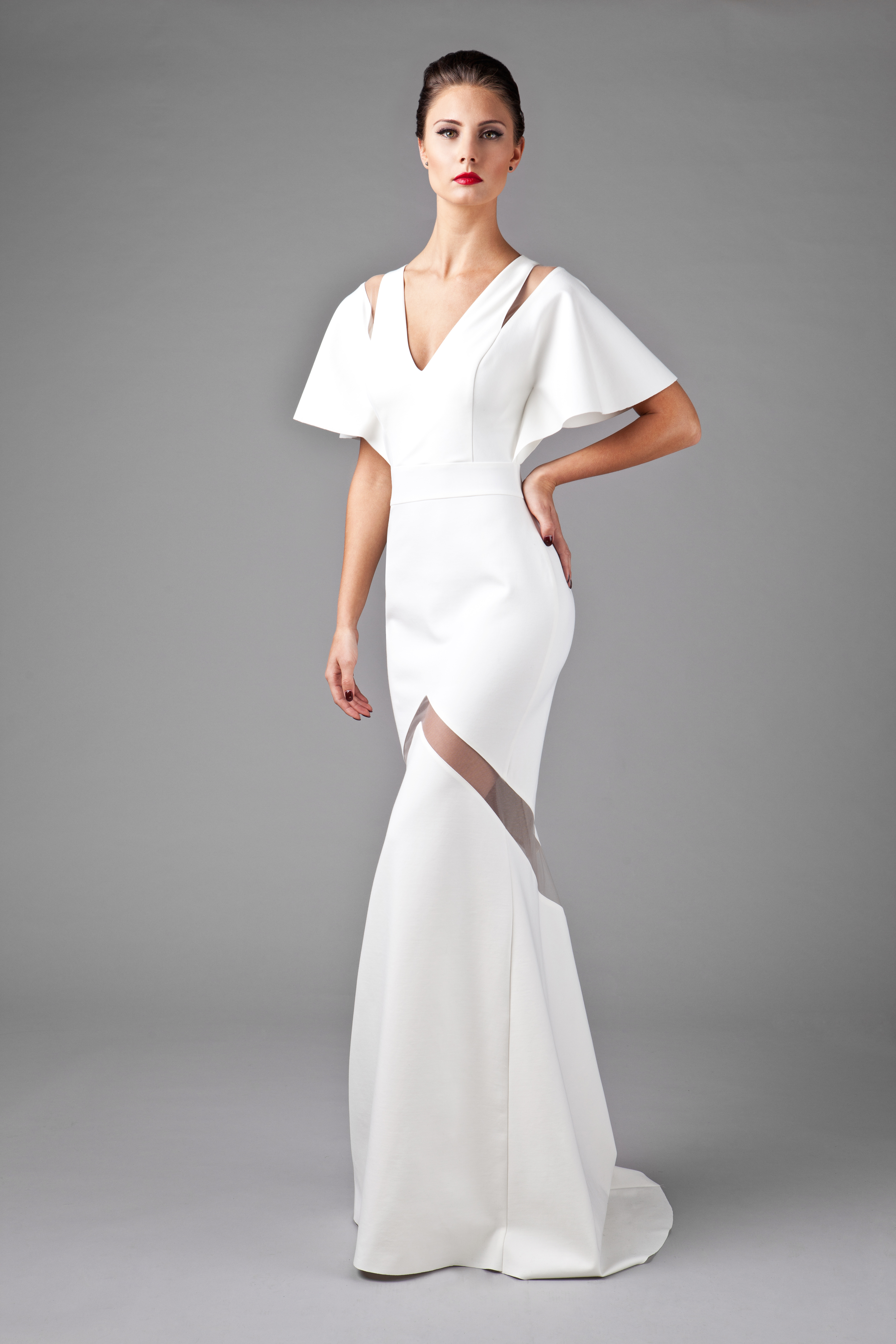 White Manta Gown_front