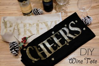 My Little Secrets DIY Series: Holiday Wine Tote