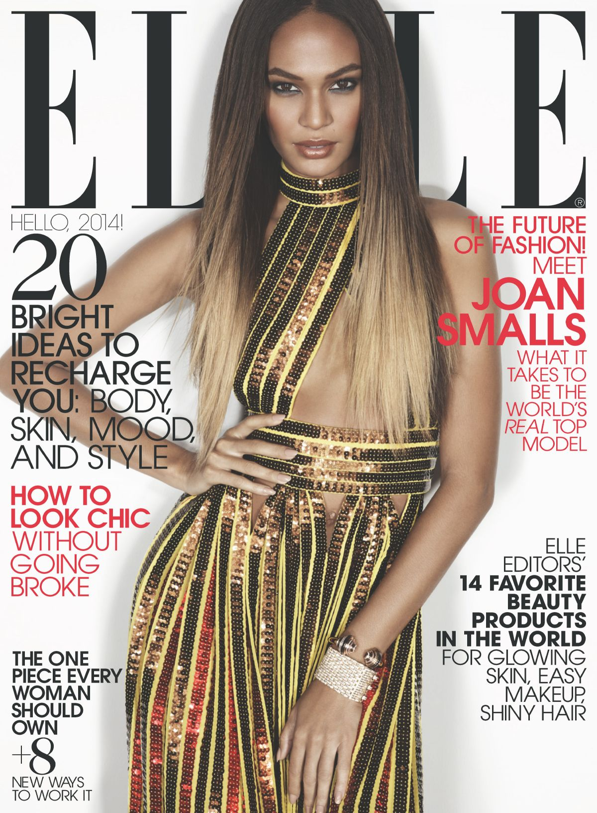 Elle Magazine France February March: Joan Smalls For Elle Magazine January 2014