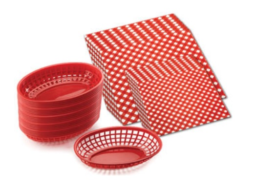 Outset - Red Baskets & Burger-fry Liners $49.99