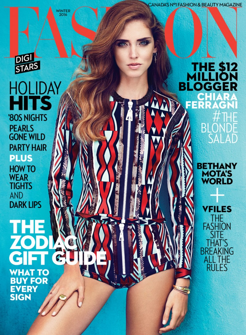 Chiara Ferragni Covers FASHION Magazine's Winter Issue